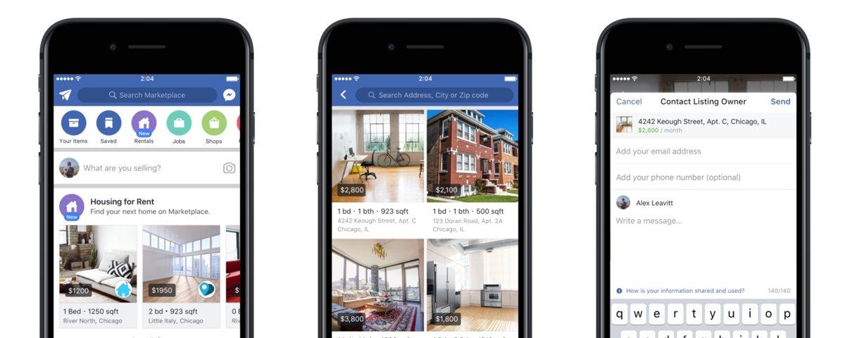facebook testa aluguel de casas
