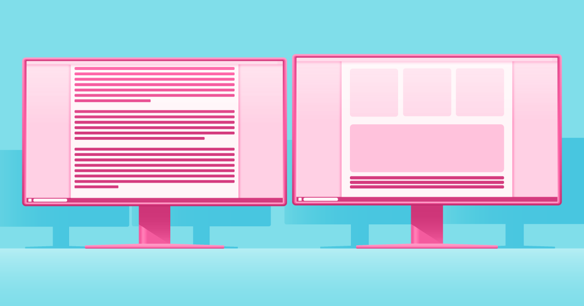 melhor layout para blog